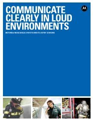 communicate clearly in loud environments - Motorola Solutions