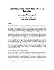 Estimating Tree Resin Dose Effect On Termites - Department of ...