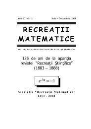 Revista (format .pdf, 1.2 MB) - Recreaţii Matematice