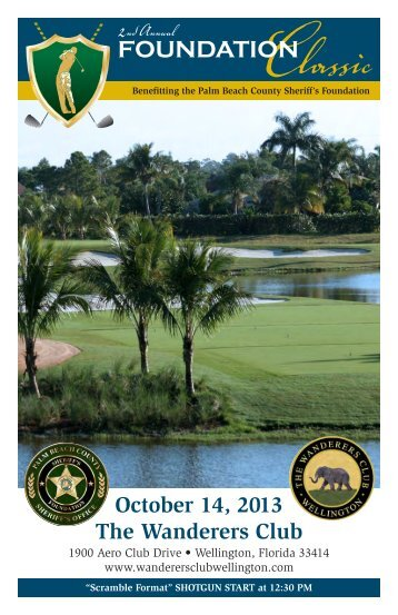 2nd Annual Sheriff's Foundation Golf Tournament - Palm Beach ...