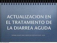 ACTUALIZACION EN EL TRATAMIENTO DE LA DIARREA AGUDA ...