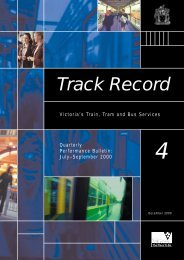 Track Record 4, July to September 2000 - Public Transport Victoria
