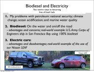 Biodiesel and Electricity