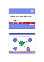 The World around Tivoli Workload Scheduler - Nordic TWS conference