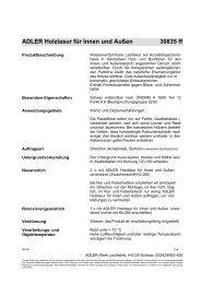 ADLER Holzlasur für Innen und Außen 30835 ff - Alpin Massivholz AG