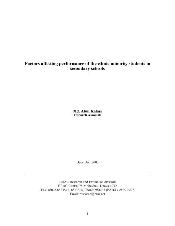 factors affecting the students performance Bangladesh e-journal of sociology volume 3 number 1 january 2006 factors affecting students' performance a case of private colleges syed tahir hijazi1 and smm raza naqvi2.