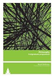 Philosophy - Royal Holloway, University of London
