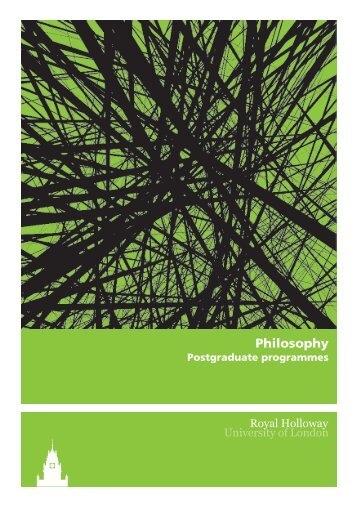 Philosophy - Royal Holloway, University of London