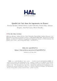 QUALITE DE L'AIR DANS LES LOGEMENTS EN FRANCE