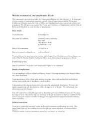 Written statement of your employment details - Greater London ...