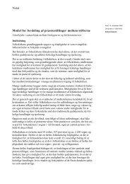 Notat Model for fordeling af præstestillinger mellem ... - Kirkeministeriet