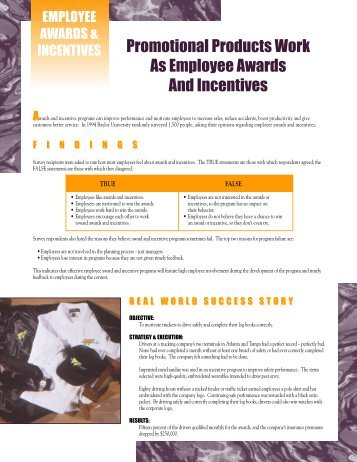 Promotional Products Work As Employee Awards And Incentives