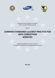 Common Standarts and Best Practices for Anti-corruption ... - KNAB