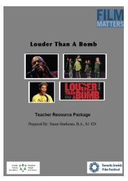 Louder Than A Bomb Teacher's Resource Package