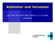 Alzheimer und Varianten