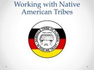 Working with Native American Tribes - Florida Department of ...