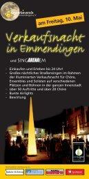 Verkaufsnacht - Gewerbeverein Emmendingen e.V.