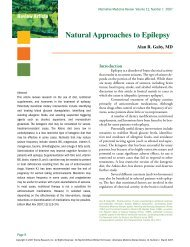 Natural Approaches to Epilepsy - Alternative Medicine Review