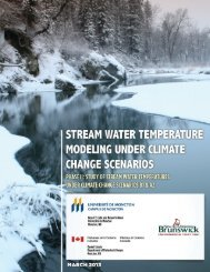 ETF 120025 - Stream Water Temperature Modeling Under Climate ...