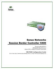 SBC 5X00 Configuration for ATT IP Flexible ... - Sonus Networks