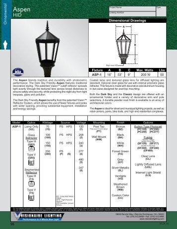 Visionaire Lighting . POG-V . Area . Aspen-HID  sc 1 st  Yumpu & Visionaire Lighting . POG-V . Bollards Section - Fortune-lighting.com azcodes.com
