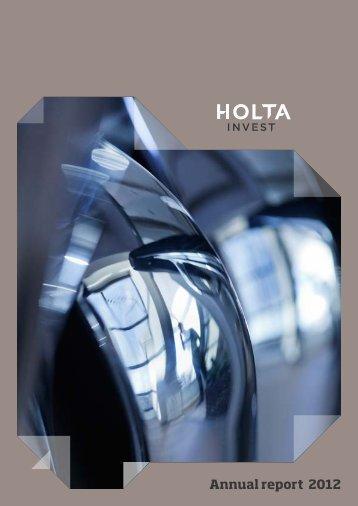 Annual report 2012 • Holta Invest