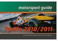 Tariffe 2010/2011 - Motorsport-Guide.com