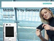 Mobile TV by Siemens - CICOMRA