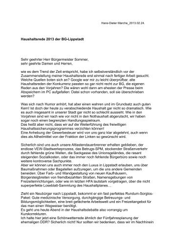 Pressemitteilung als PDF... - BG Lippstadt
