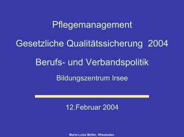 strukturierter Qualitätsbericht - BALK-Bayern