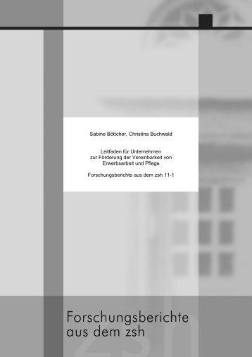 Teil 2: Informationen für Unternehmen - Zentrum für Sozialforschung ...