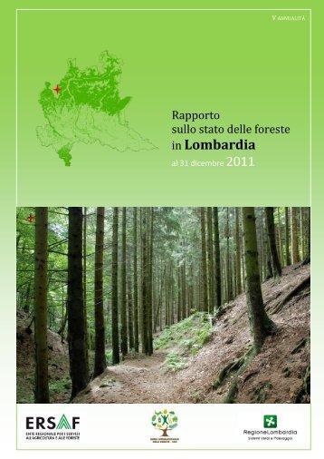 Rapporto stato foreste al 31 dicembre 2011 - Ersaf
