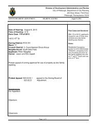 Date of Hearing: August 8, 2013 Time of Hearing ... - City of Pittsburgh