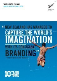 Annual Report 2008-2009 - Tourism New Zealand