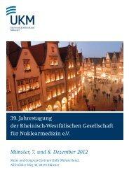 39. Jahrestagung der Rheinisch-Westfälischen ... - RWGN