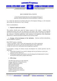 RECOMMENDATIONS Concerning the Human Resources ... - EVTA