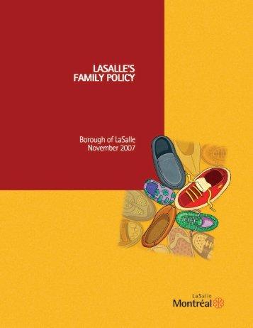 LaSalle's family policy - Ville de Montréal