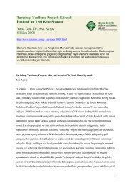 Tarlabaşı Yenileme Projesi: Küresel İstanbul'un Yeni Kent Siyaseti