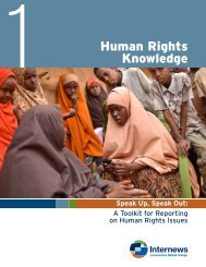 Section 1: Human rights knowledge - Internews