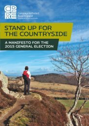 CPRE Manifesto - Stand up for the countryside-a manifesto  for the 2015 General Electionv2.00