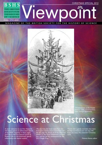 festive edition of Viewpoint - British Society for the History of Science