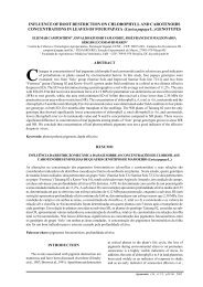 INFLUENCE OF ROOT RESTRICTION ON CHLOROPHYLL AND ...