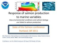 Response of salmon production to marine variables - State of the ...
