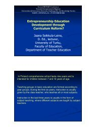 Entrepreneurship Education Development through Curriculum ...