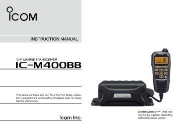 Icom Ic m422 manual