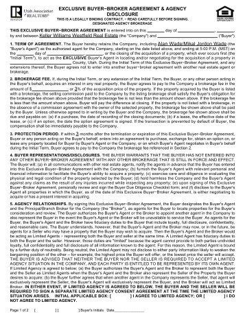 Mainstreet Organization Of Realtors 1 Exclusive Buyer Representation