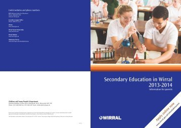 Secondary Education in Wirral 2013-2014 - Wirral Borough Council