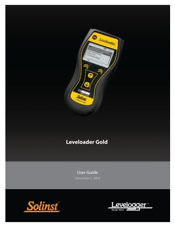 3001 Leveloader Gold User Guide - Solinst.com