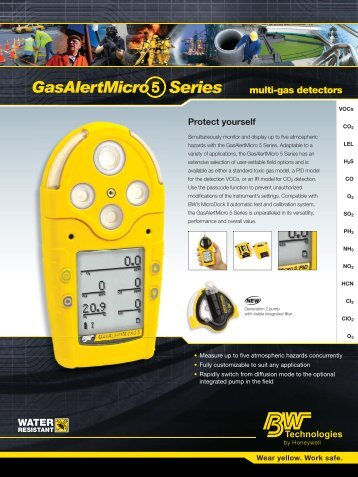 GasAlertMicro 5 IR Portable Gas Detector - Thermo Fisher