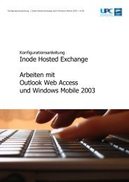 Inode Hosted Exchange Arbeiten mit Outlook Web Access ... - inode.at